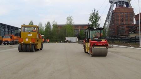 Największy w Polsce plac z betonu wałowanego