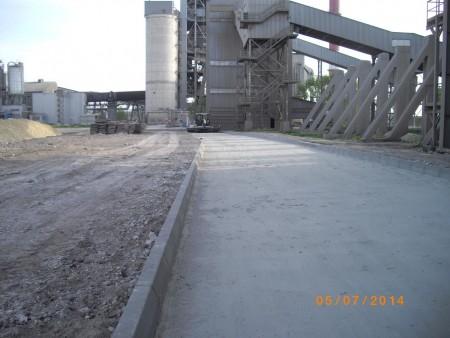 Droga przemysłowa w Cementowni Chełm
