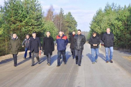 Uroczyste otwarcie drogi betonowej w Trzebini