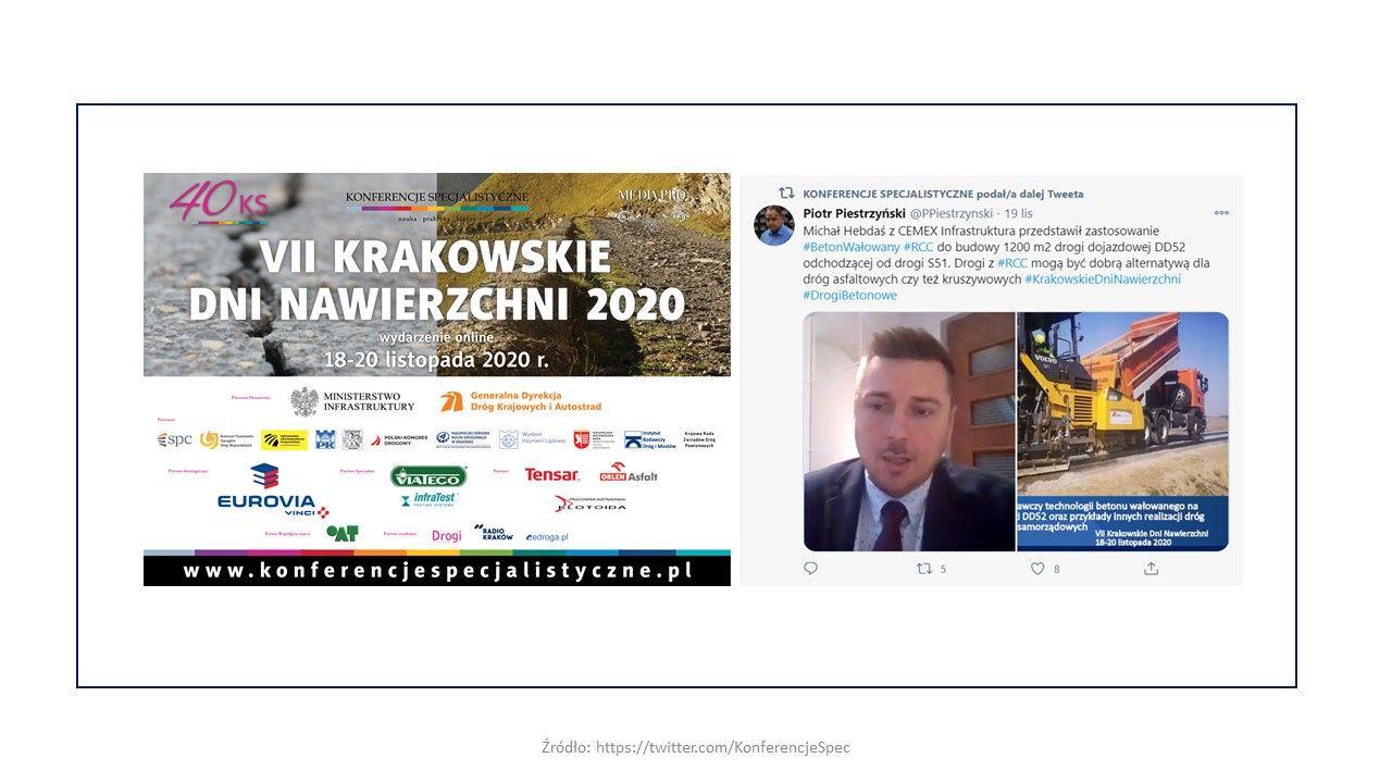 CEMEX Infrastruktura na VII Krakowskich Dniach Nawierzchni